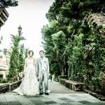 中之島バラ園での結婚写真