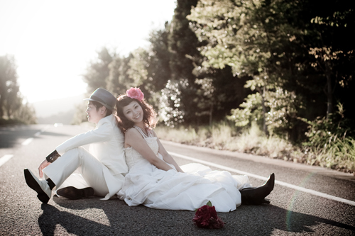 結婚式のロケーションフォト