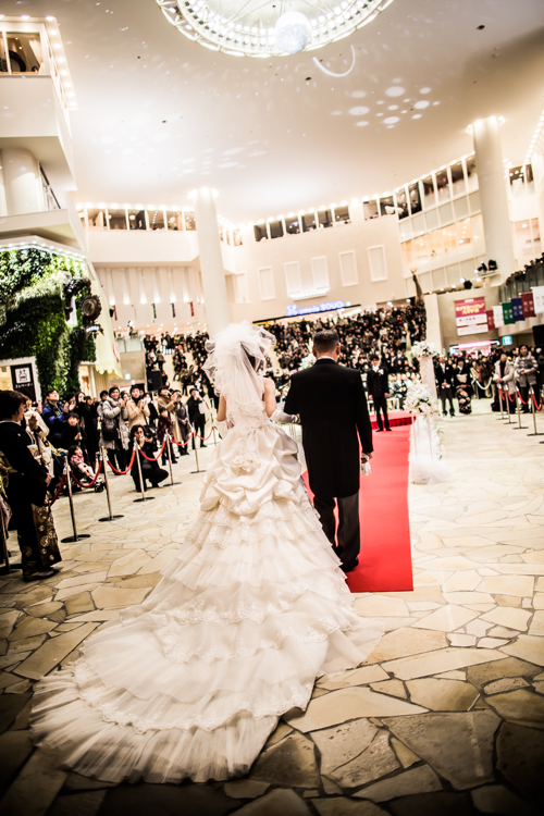 阪急本店で結婚式