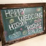 結婚式の顔、ウェルカムボードを用意しましょう!